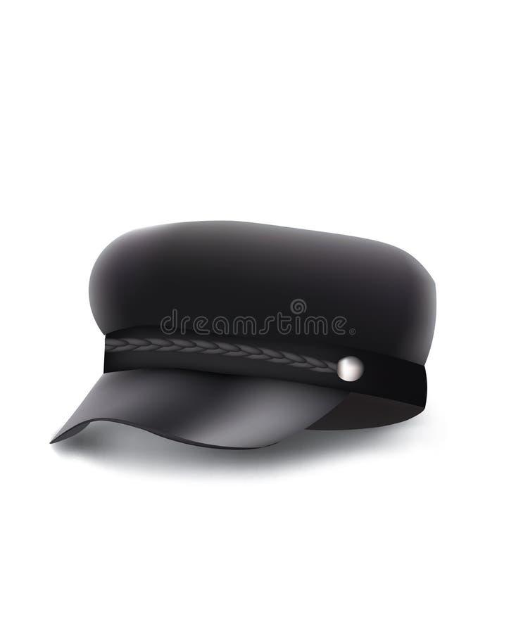 现代黑军用盖帽 库存例证