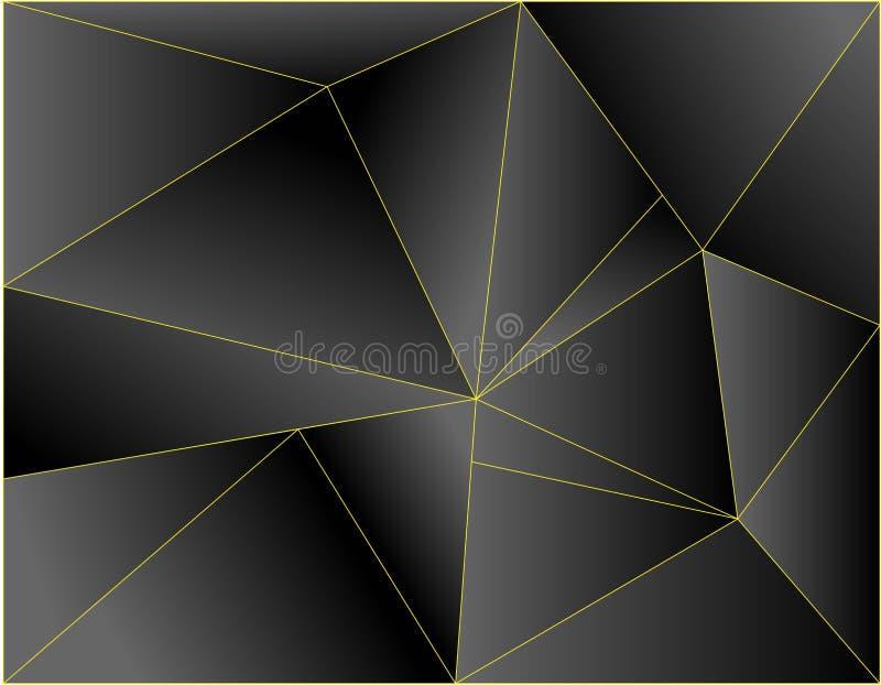 现代黑背景维度金子传染媒介例证的设计 库存例证