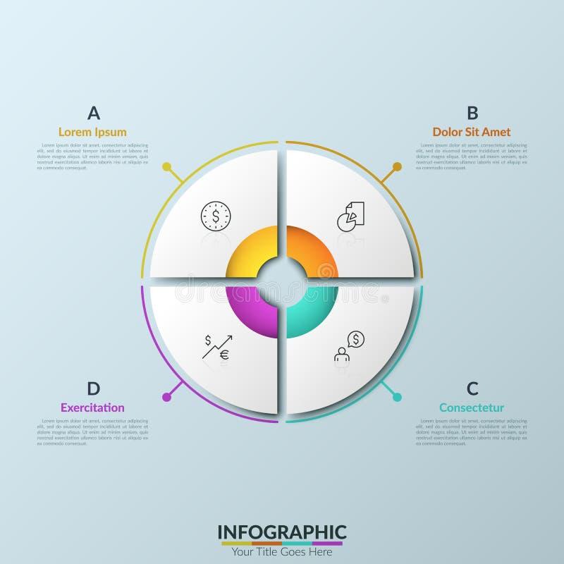 现代infographic设计模板 向量例证