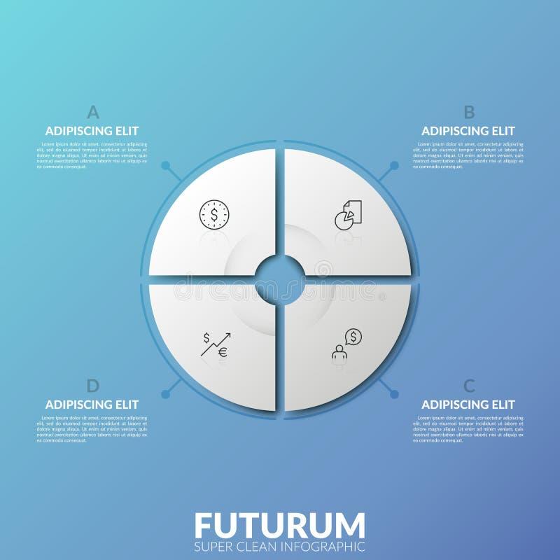现代infographic设计模板 库存例证