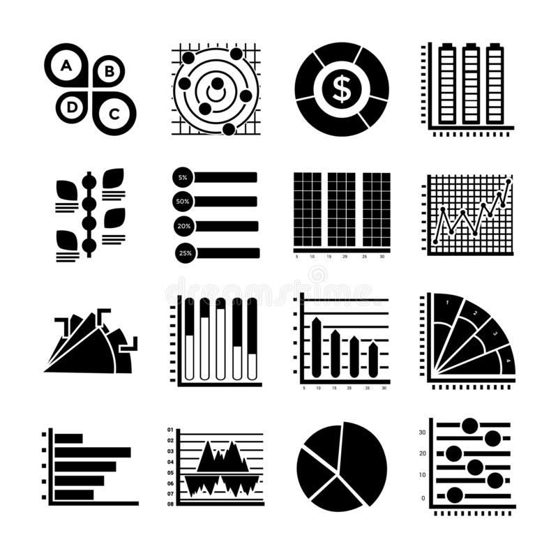 现代Infographics纵的沟纹象 向量例证