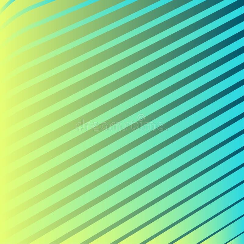 现代minimalistic抽象半音梯度线仿造  向量例证