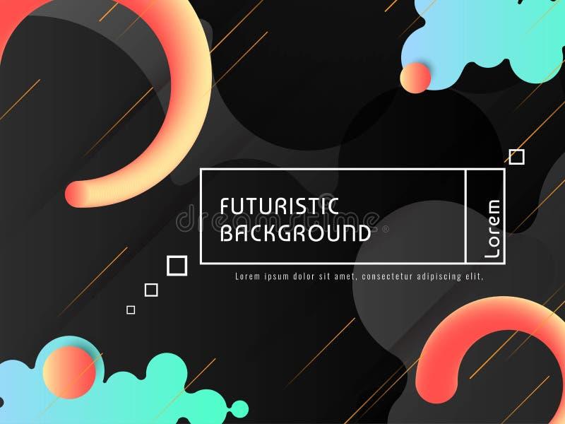 现代techno未来派背景传染媒介 库存例证
