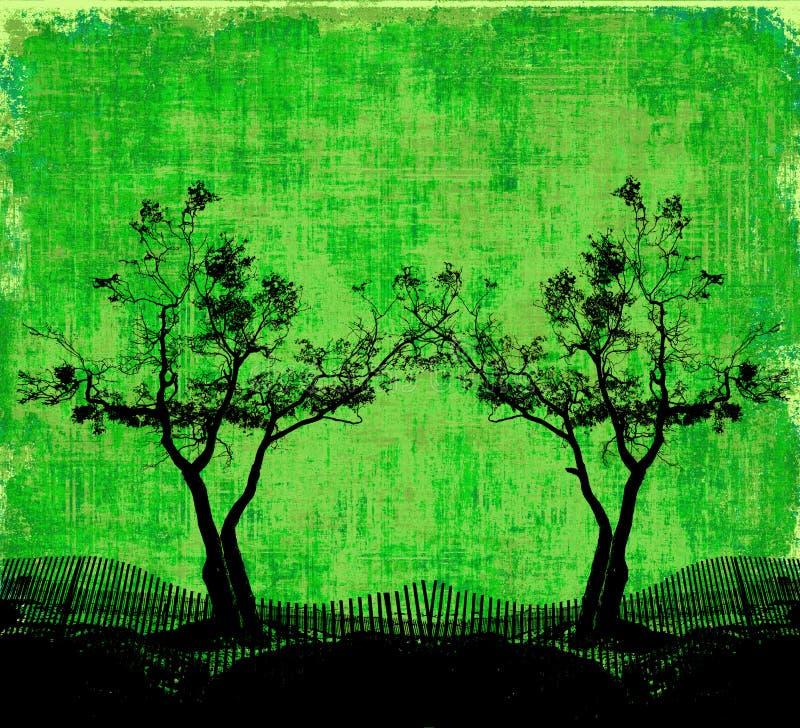 现出轮廓结构树 向量例证