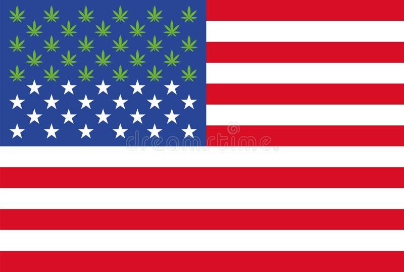 现在大麻法律在美国信息图表的28个状态 皇族释放例证