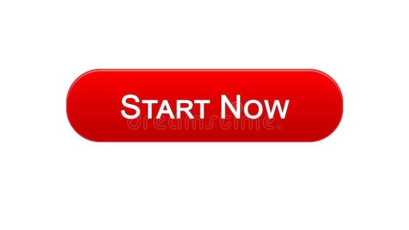 现在开始网接口按钮红颜色,业务发展,创新 皇族释放例证