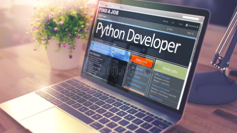 现在聘用Python的开发商 3d 皇族释放例证