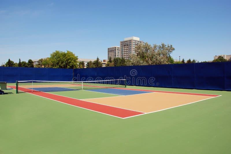 现场困难网球 免版税库存图片