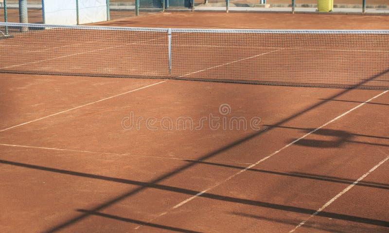 现场地球净额表面网球 免版税图库摄影
