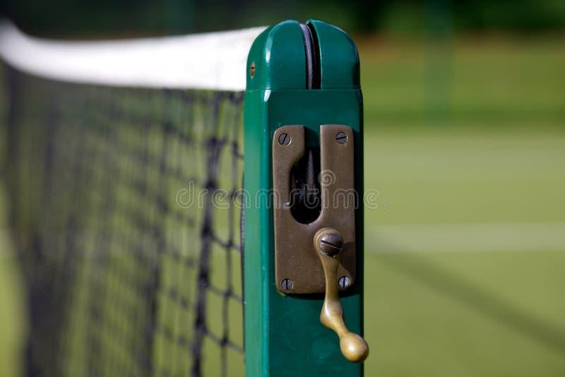 现场地球净额表面网球 库存照片
