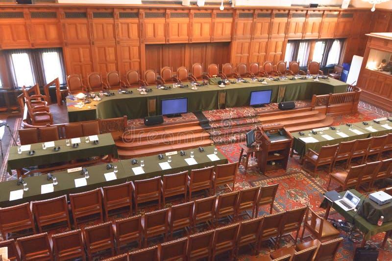 现场大厅国际正义 免版税库存照片
