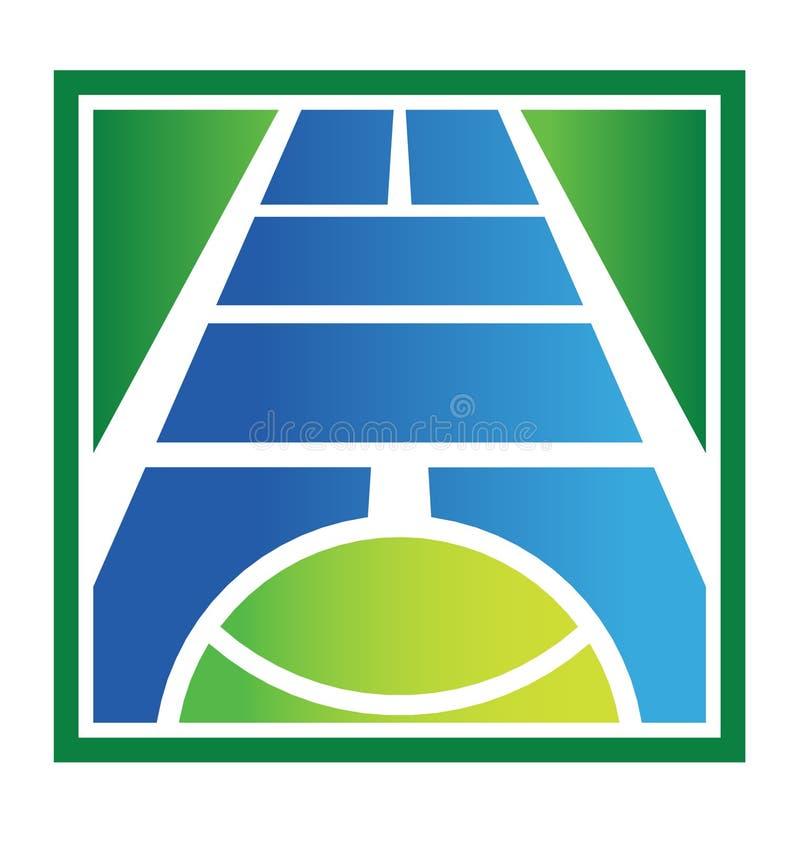 现场徽标网球 库存例证