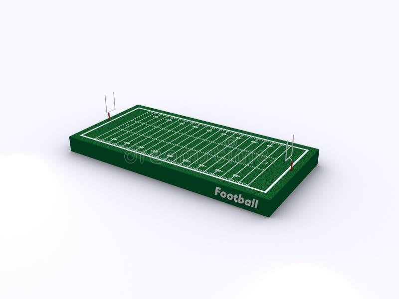 现场橄榄球 向量例证