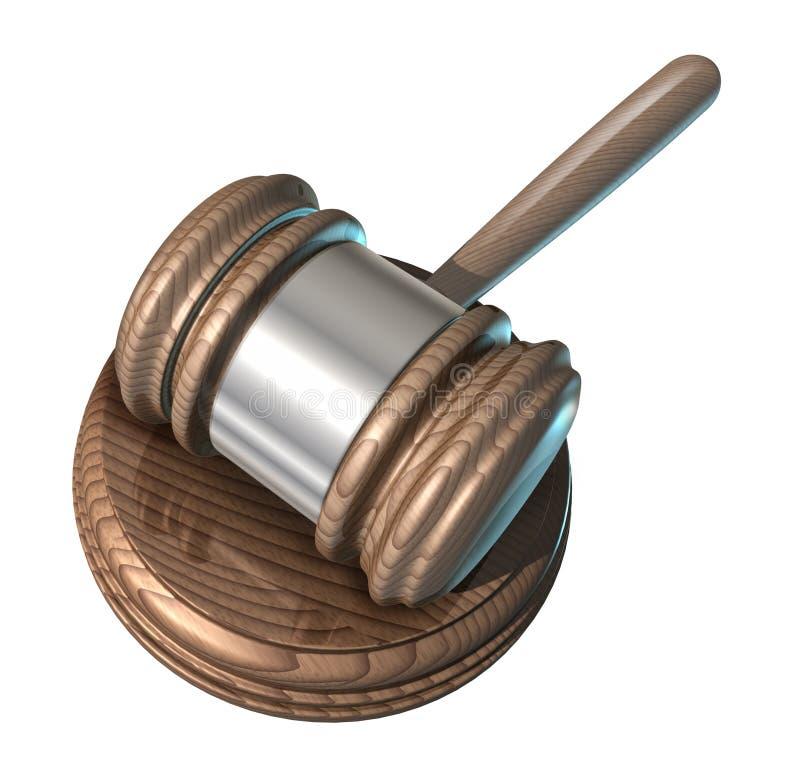 现场法律短槌 向量例证