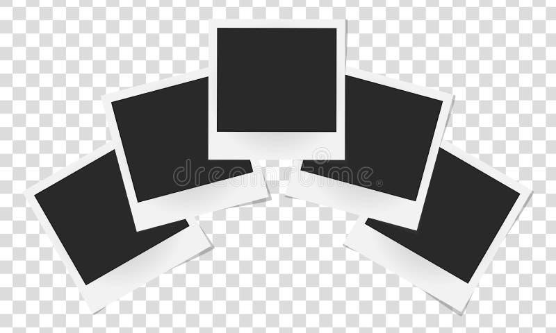现实传染媒介照片框架拼贴画  皇族释放例证