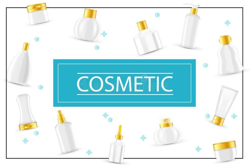 现实化妆产品概念 皇族释放例证
