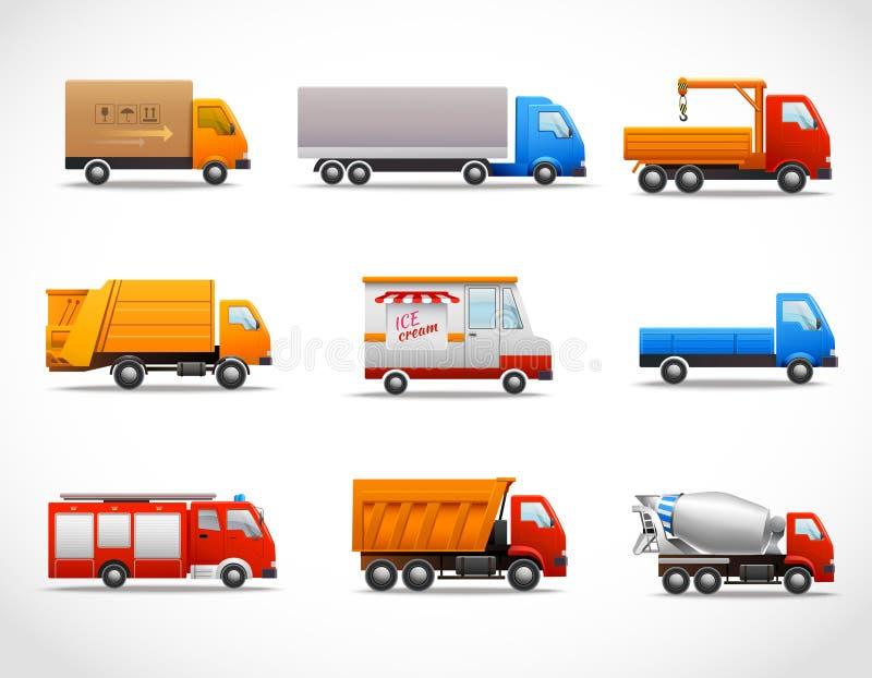 现实卡车象 向量例证