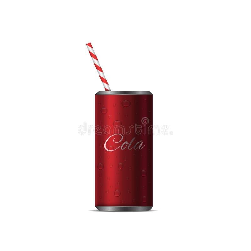 现实可乐罐头 皇族释放例证