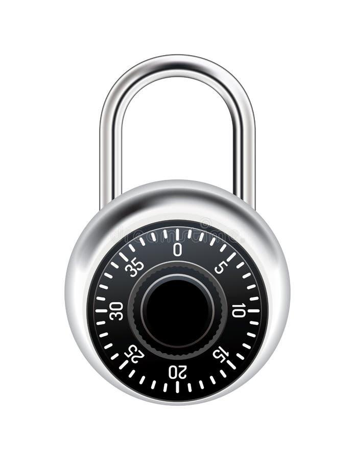 现实号码锁例证 皇族释放例证