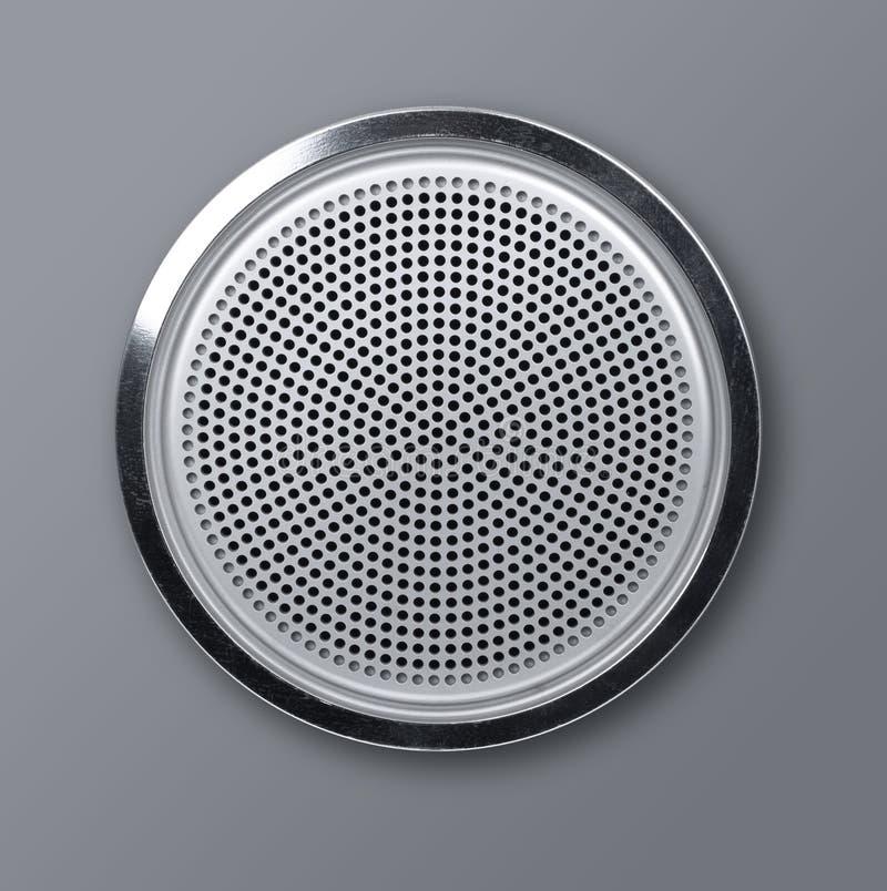 现实圆的金属扩音器 免版税图库摄影