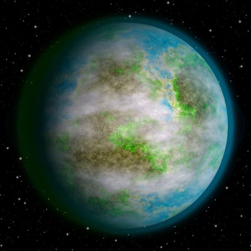 现实地球喜欢行星纹理 免版税库存图片