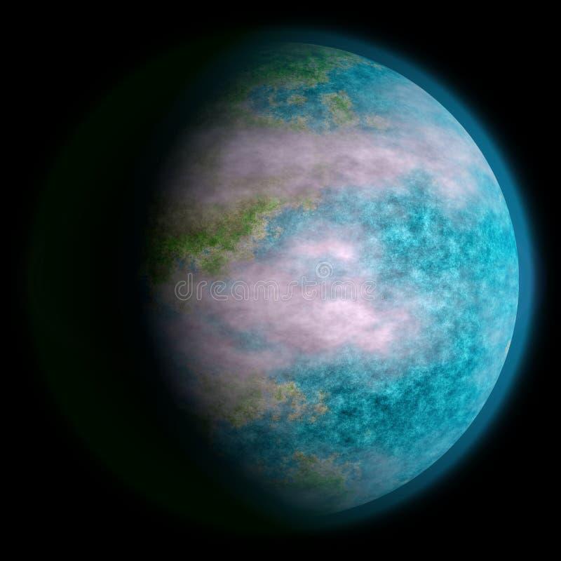 现实地球喜欢行星纹理 免版税库存照片