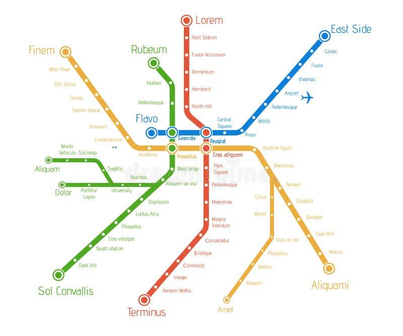 现实城市地铁地图 背景画廊例证更多我看到向量 Abst 向量例证
