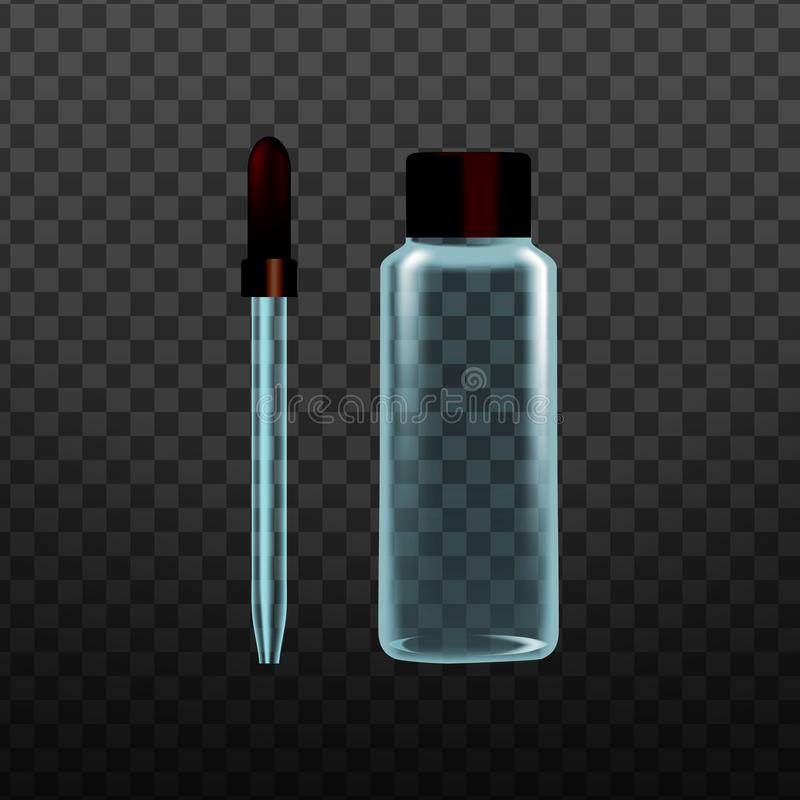 现实实验室工具玻璃吸移管传染媒介 向量例证
