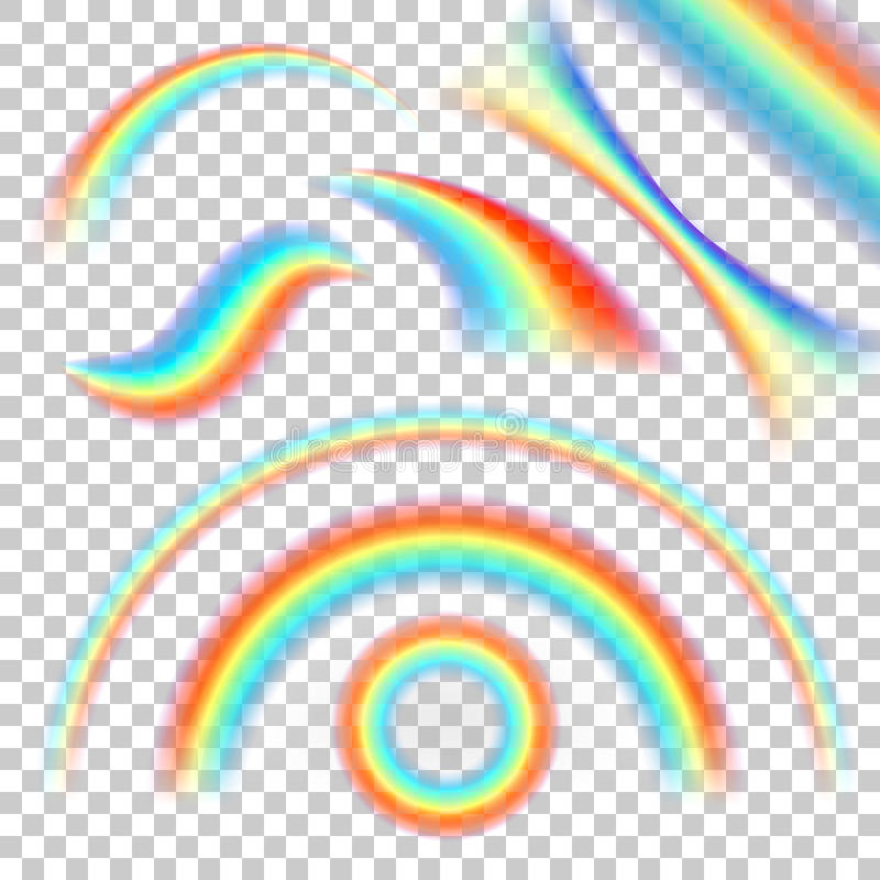 现实彩虹另外形状  动画片重点极性集向量 皇族释放例证