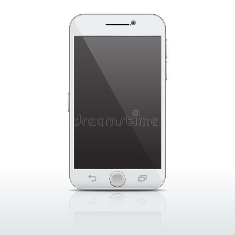 现实手机,智能手机传染媒介模板,与空的屏幕的大模型 皇族释放例证