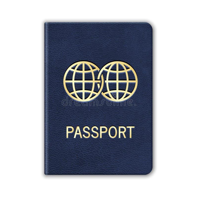 现实护照。隔绝在白色。传染媒介 向量例证