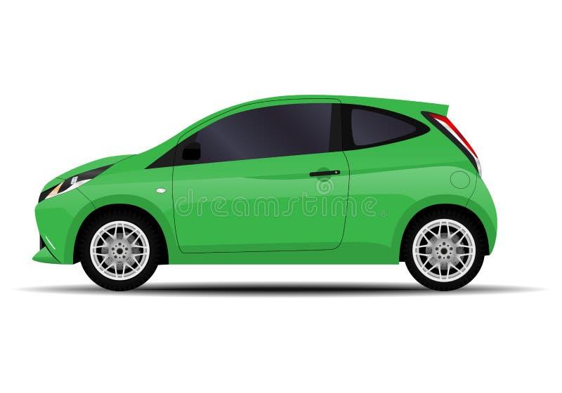现实斜背式的汽车汽车 向量例证