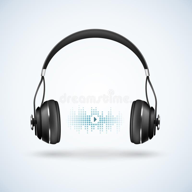 现实无线耳机例证 库存例证