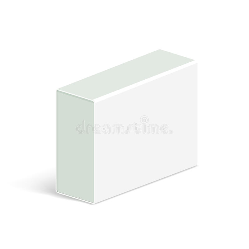 现实智能手机的,片剂个人计算机,小配件传染媒介空白白色包装的箱子模板的例证 等轴测图 向量例证