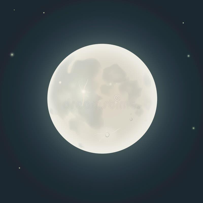 现实月亮 也corel凹道例证向量 皇族释放例证