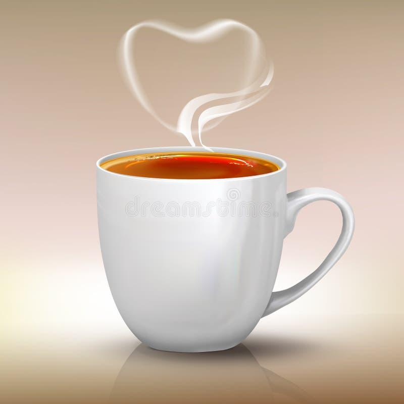 现实杯子红茶,传染媒介对象例证 向量例证