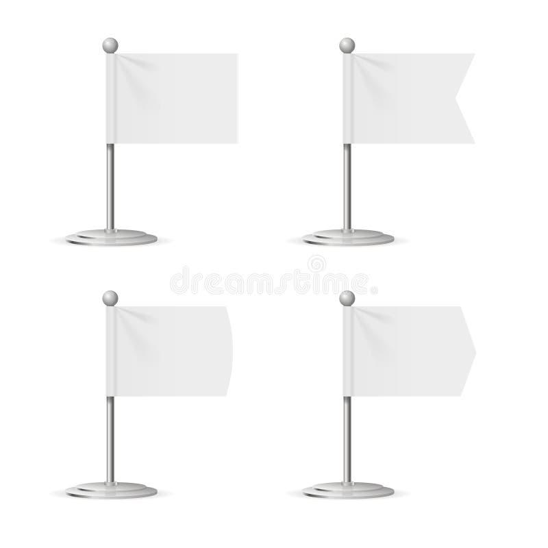 现实模板空白白旗口袋表 向量 向量例证