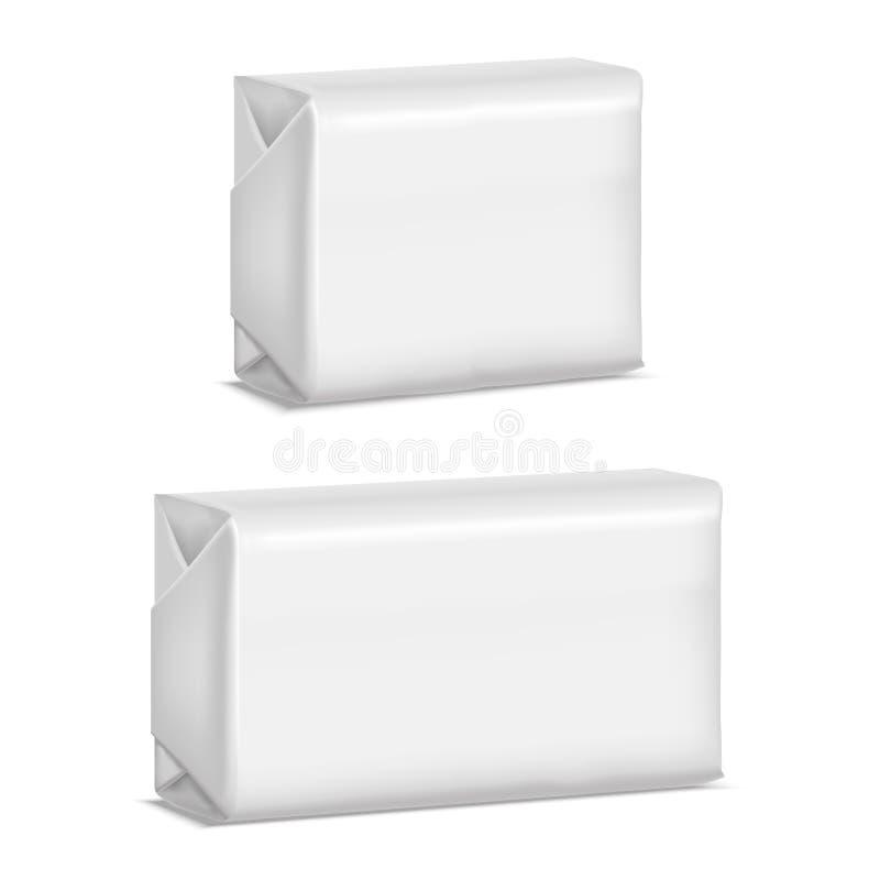 现实模板空白白色肥皂组装 向量 向量例证