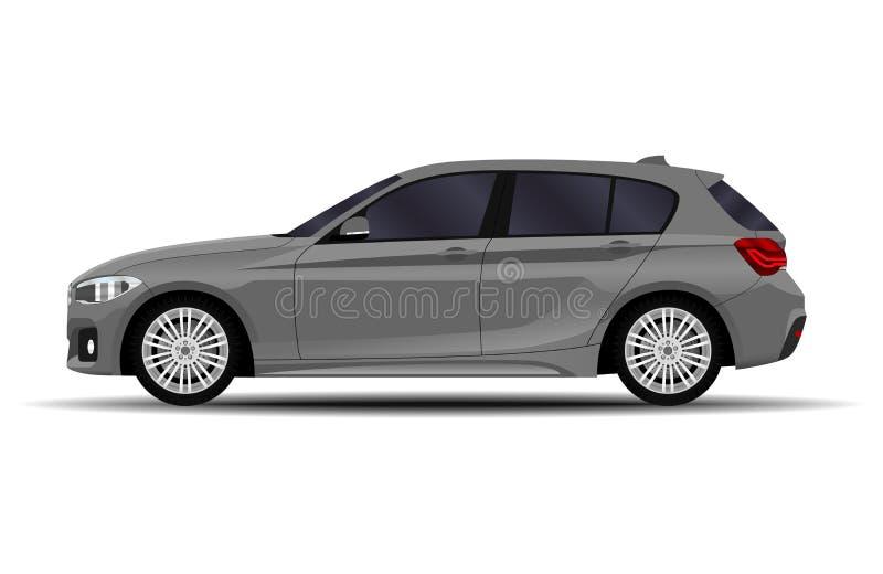 现实汽车 斜背式的汽车 皇族释放例证