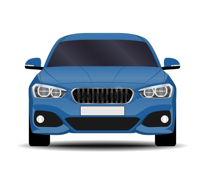 现实汽车 斜背式的汽车 向量例证