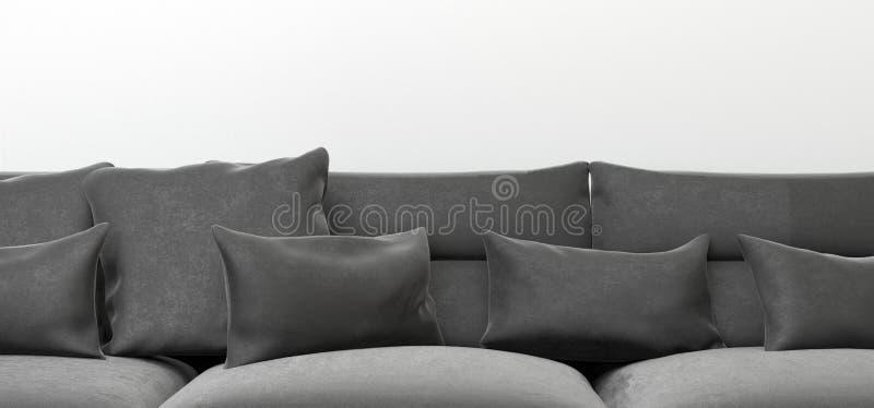 现实沙发缓冲特写镜头 向量例证
