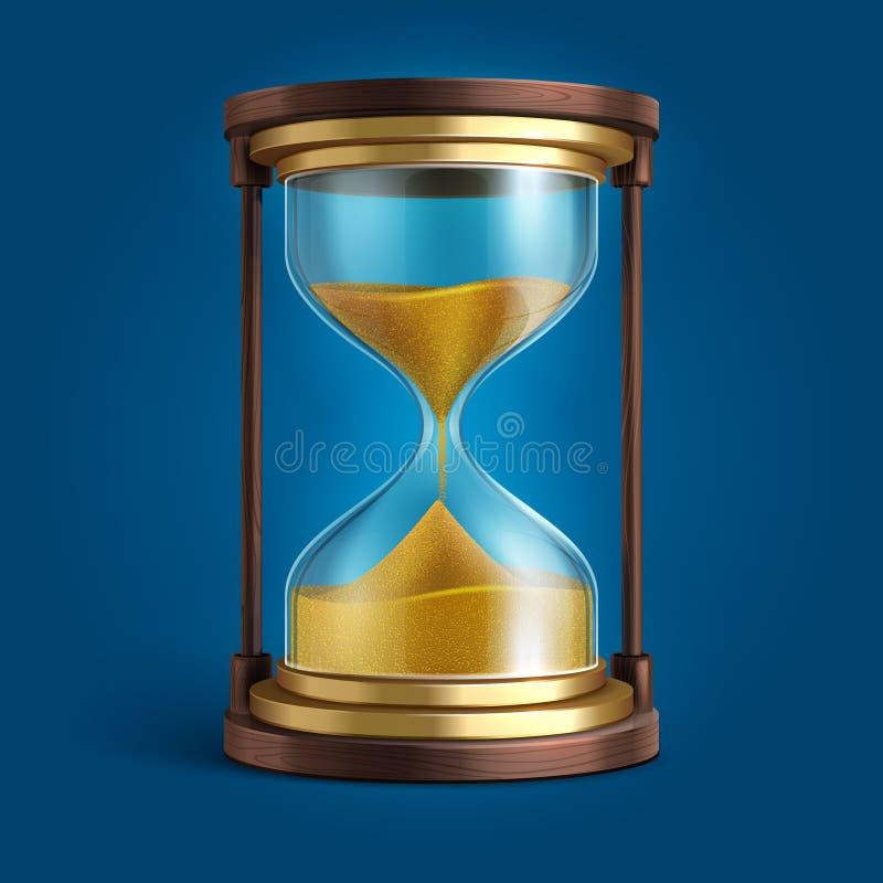 现实滴漏,沙子时钟定时器传染媒介例证 皇族释放例证