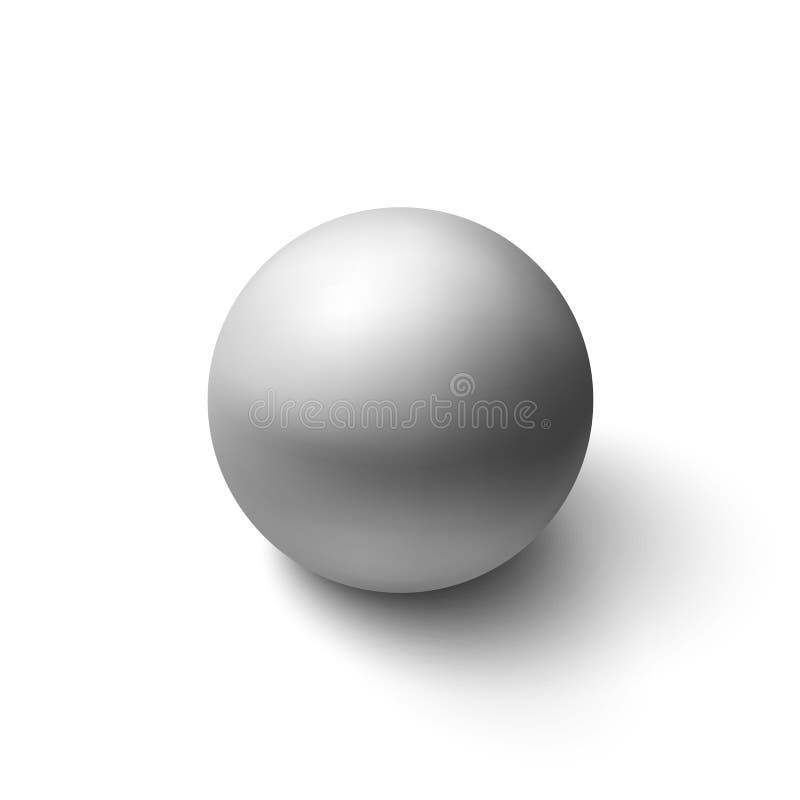 现实灰色球形 库存例证