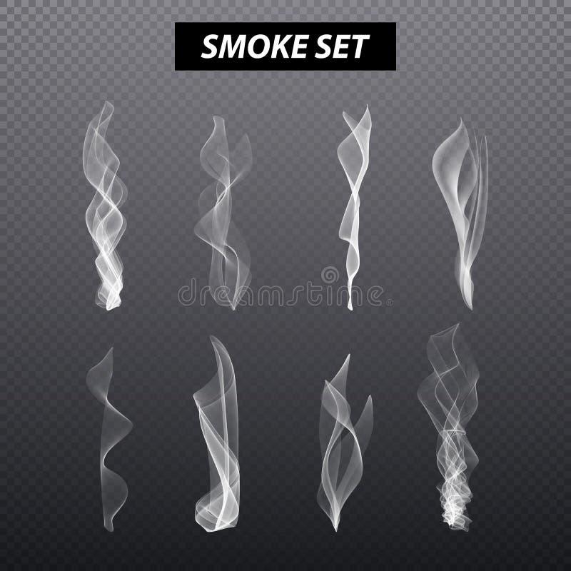 现实烟设计 设置传染媒介黑背景 皇族释放例证