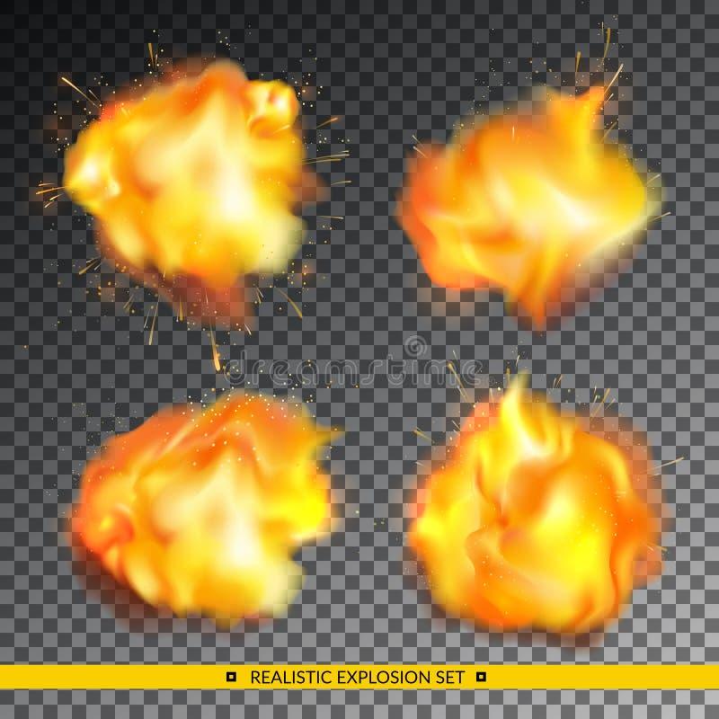 现实爆炸集合 向量例证