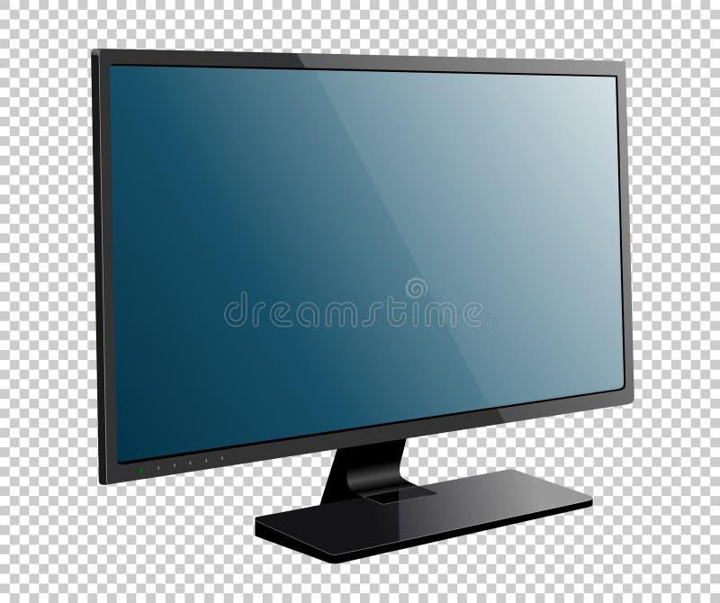 现实电视屏幕 现代时髦的LCD盘区, LED类型 皇族释放例证
