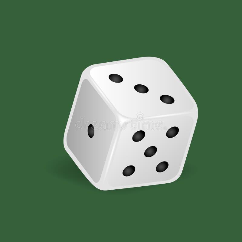 现实白色模子 赌博,赌博娱乐场,模子 数字:一,三,五 皇族释放例证