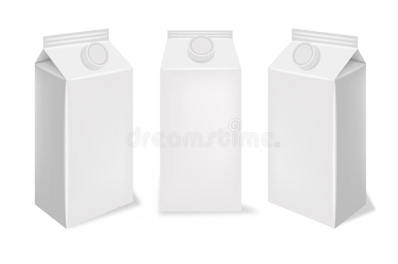 现实白色的包裹,隔绝,汁液箱子包裹 库存例证