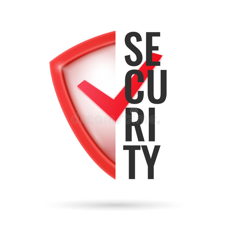 现实盾、保护的标志和可靠性 向量例证