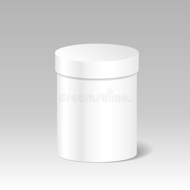 现实空白的白色产品包裹箱子嘲笑给G做广告 库存例证